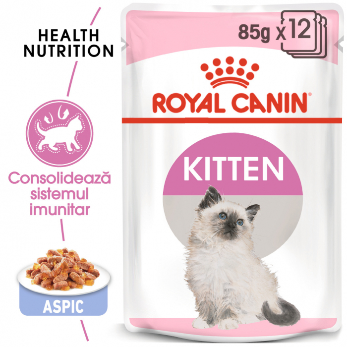 Royal Canin Kitten Instinctive In Jelly hrana umeda in aspic pentru pisica, 12 x 85 g 0