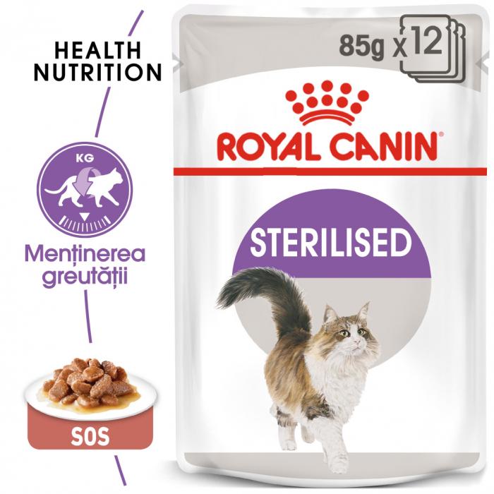 Royal Canin Sterilised Adult hrana umeda in sos pisica sterilizata, 12 x 85 g 0