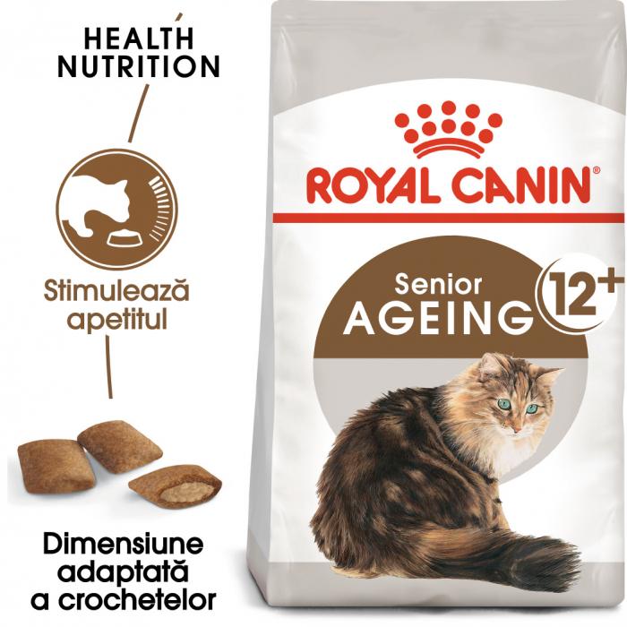 Royal Canin Ageing 12 + hrana uscata pisica senior, 400 g 0
