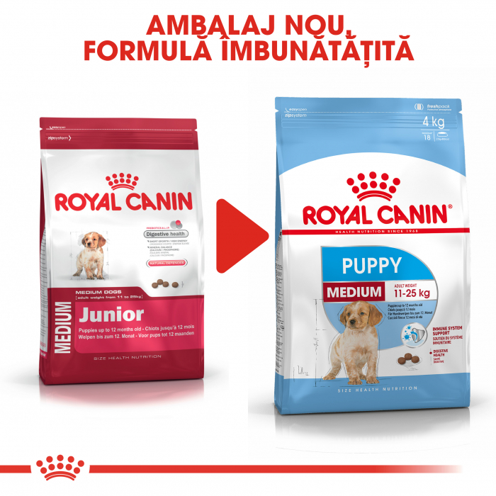 Royal Canin Medium Puppy hrana uscata caine junior, 1 kg 1