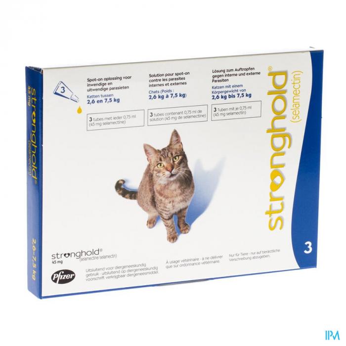 Deparazitare externa si interna pentru pisici Stronghold 45 mg ( 2,5-7,5 kg ) 1 pipeta 0