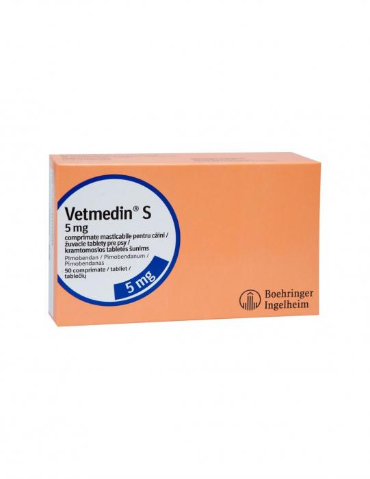 Vetmedin 5 mg cutie cu 50 de tablete masticabile 0