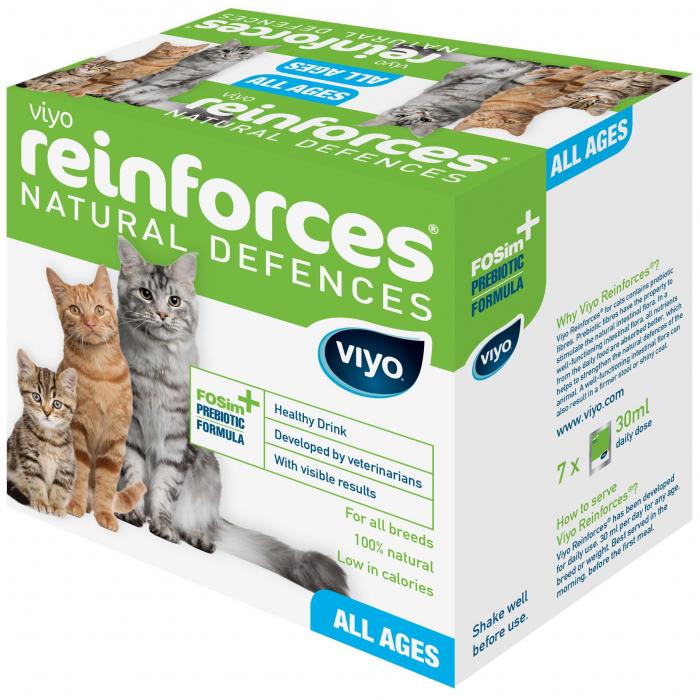 Supliment Nutritiv pentru pisici Viyo Reinforces Cat 30 x 30ml [0]