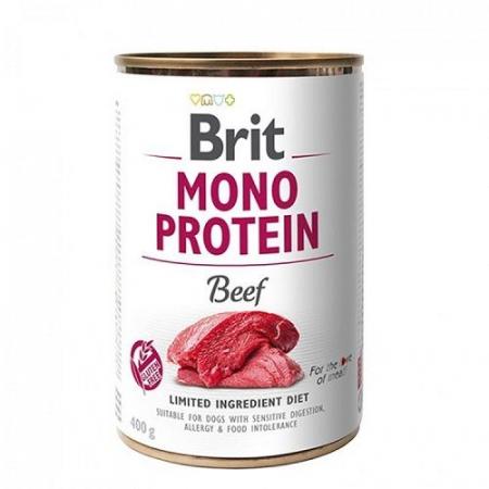 Hrană umedă pentru câini - Brit Mono Protein Beef 400 g [0]
