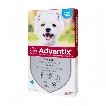 Advantix 100  ( 4-10 kg ) cutie cu 1 pipetă antipurici0