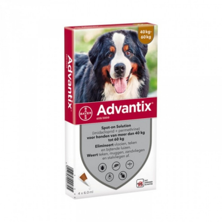 Advantix 600  (40-60 kg ) cutie cu 1 pipetă antipurici0