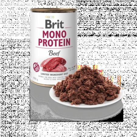 Hrană umedă pentru câini - Brit Mono Protein Beef 400 g [1]