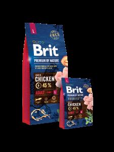 Hrana uscata pentru caini Brit Premium Adult L 3 kg
