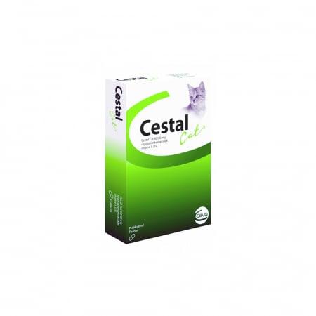 Tablete deparazitare internă pentru pisici Cestal Cat Chew 8 comprimate0