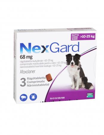 Deparazitare externa pentru caini Nexgard L cutie cu 3 comprimate masticabile0