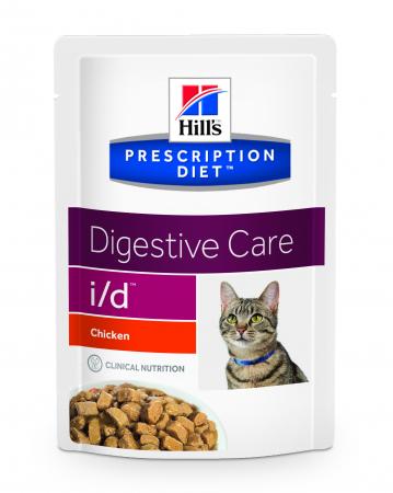 Hill's PD i/d Digestive Care  hrana pentru pisici cu pui 85 g (plic) [0]