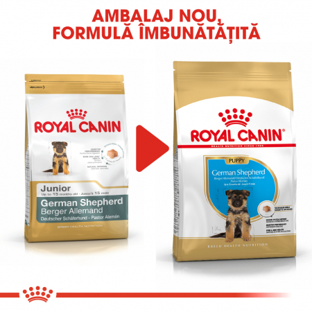 Royal Canin German Shepherd Puppy  hrana uscata caine junior Ciobanesc German, 3 kg6