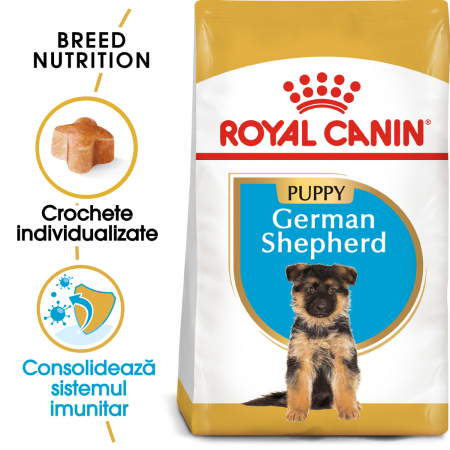 Royal Canin German Shepherd Puppy  hrana uscata caine junior Ciobanesc German, 3 kg0