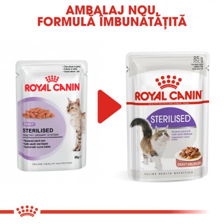 Royal Canin Sterilised Adult hrana umeda in sos pisica sterilizata, 12 x 85 g5