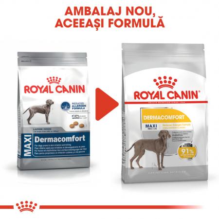 Royal Canin Maxi Dermacomfort hrana uscata caine pentru prevenirea iritatiilor pielii, 3 kg1
