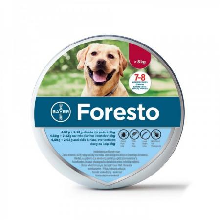 Zgardă Antiparazitară Foresto pentru caini > 8 kg (70 cm)