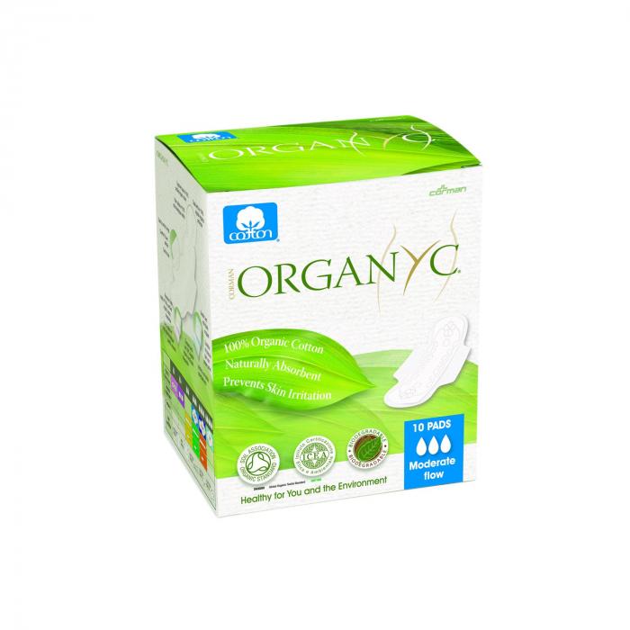 Absorbante intime din bumbac organic pentru zi 10 buc. Organyc [0]