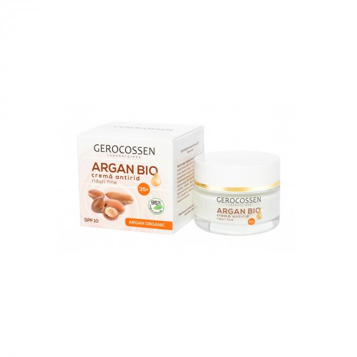 Argan Bio Crema Antirid Riduri Fine 35+ Spf 10: cu Ulei de Argan Organic,Coenzima Q10, Homeostatine - 50 Ml [0]