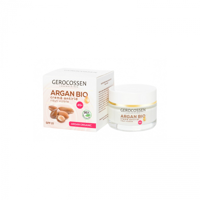 Argan Bio Crema Antirid Riduri Vizibile 45+ Spf 10 : cu Ulei de Argan Organic, Coenzima Q10, Homeostatine - 50 Ml  [0]