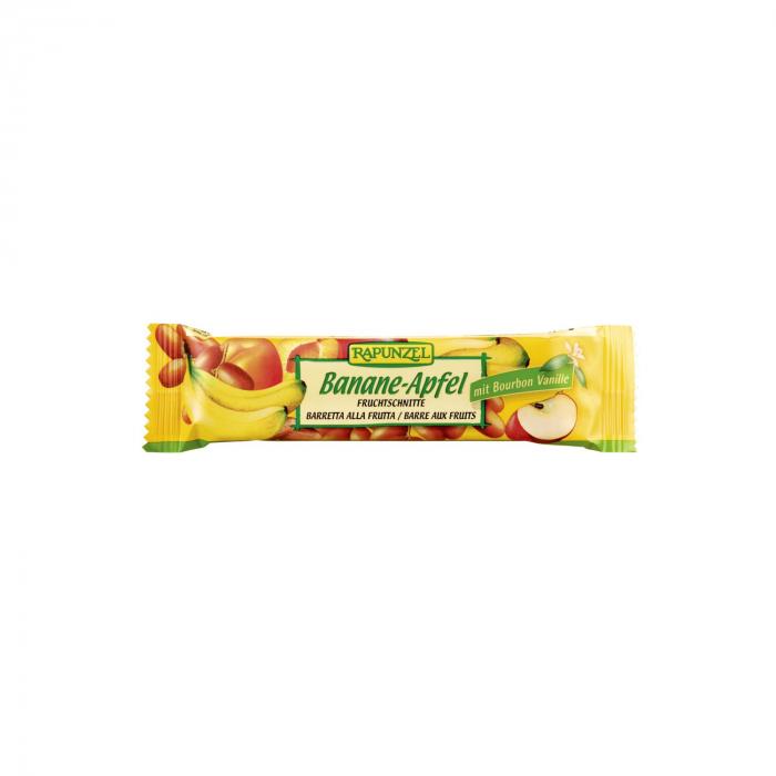 Baton cu fructe Banana si Măr BIO Rapunzel 40g [0]