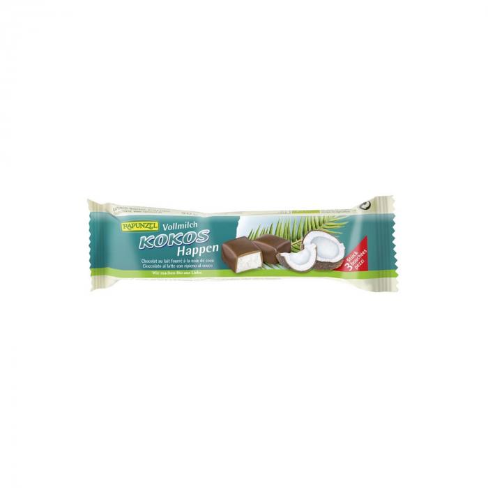 Baton de cocos cu glazura din lapte integral Rapunzel 50g [0]