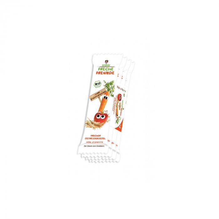 Baton din cereale cu mar si morcov BIO 4 buc x 23g [0]