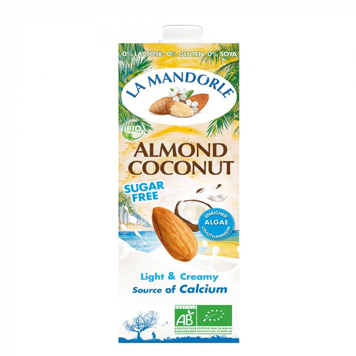 Bautura vegetala de migdale cu cocos fara zahar 1L [0]