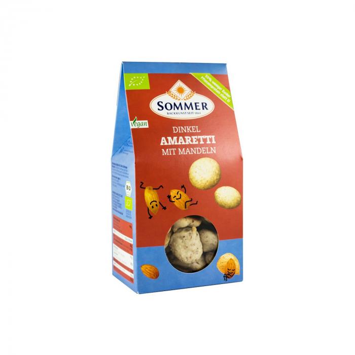 Biscuiti BIO amaretti din faina de grau spelta cu migdale, 125g [0]