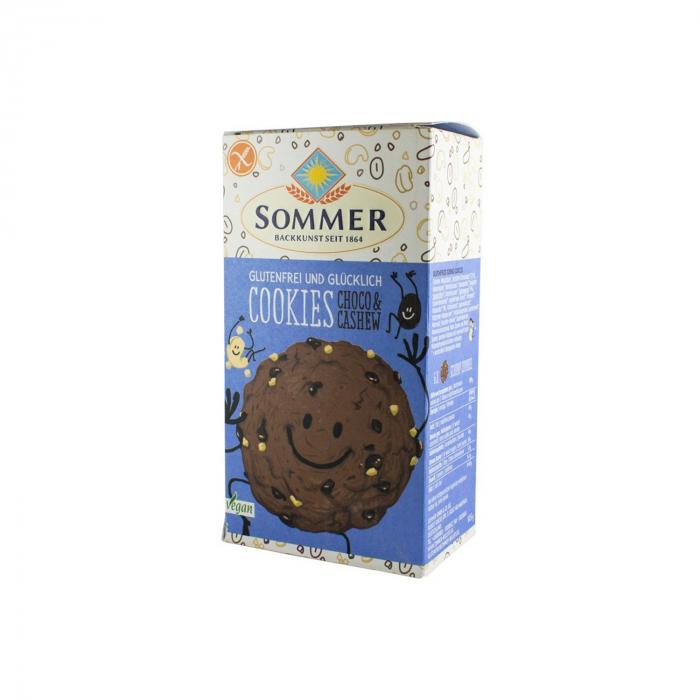 Biscuiti BIO FARA GLUTEN cu ciocolata si caju, 125g [0]