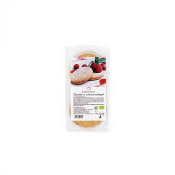 Biscuiti cu crema de zmeura ECO 175g Longevita [0]