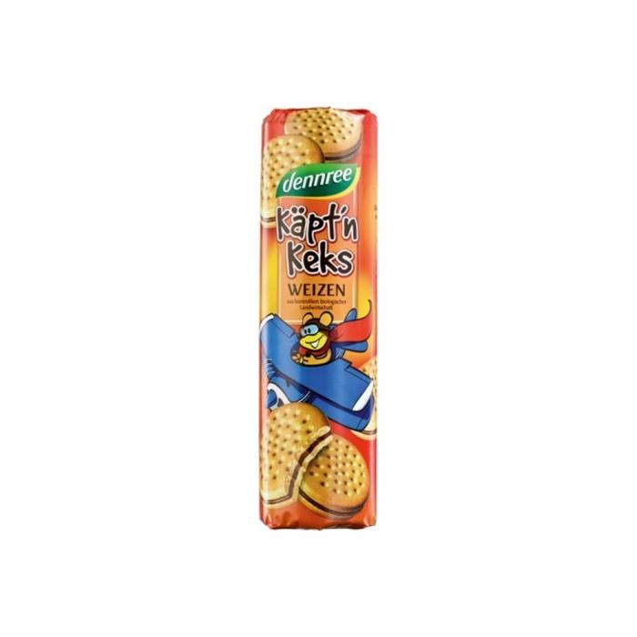 Biscuiti din grau umpluti cu crema de cacao BIO Dennree 330g [0]