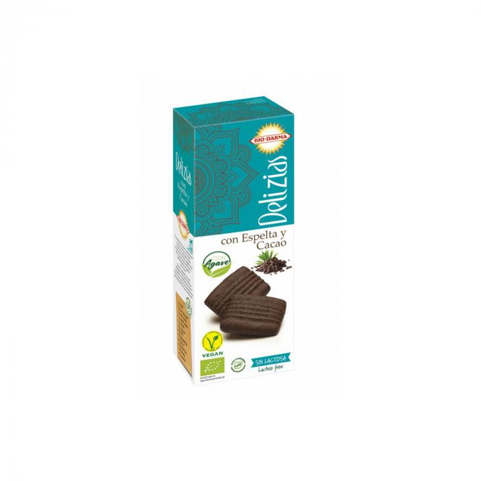 Biscuiti din spelta cu cacao, indulciti cu agave BIO 135g [0]