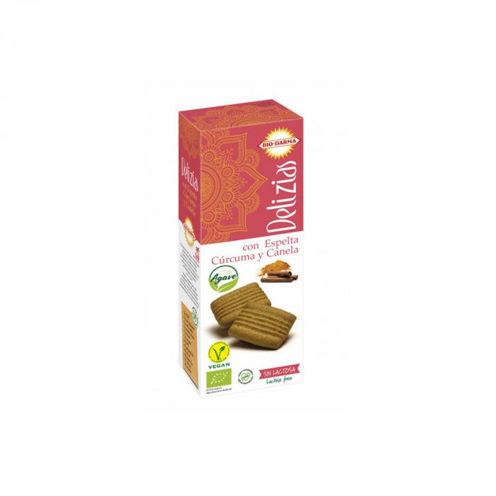 Biscuiti din spelta cu turmeric si scortisoara, indulciti cu agave BIO 135g [0]
