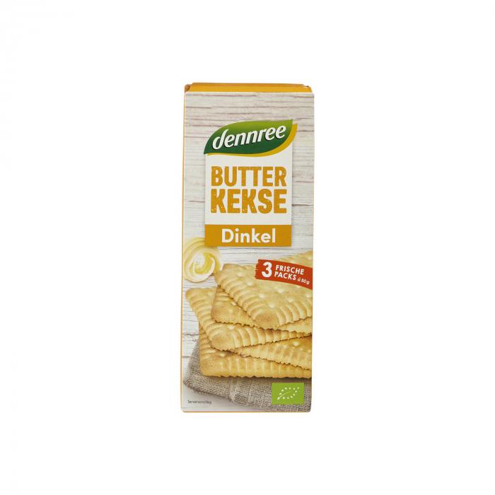 Biscuiti din spelta si unt BIO Butterkeks Dennree 150g [0]