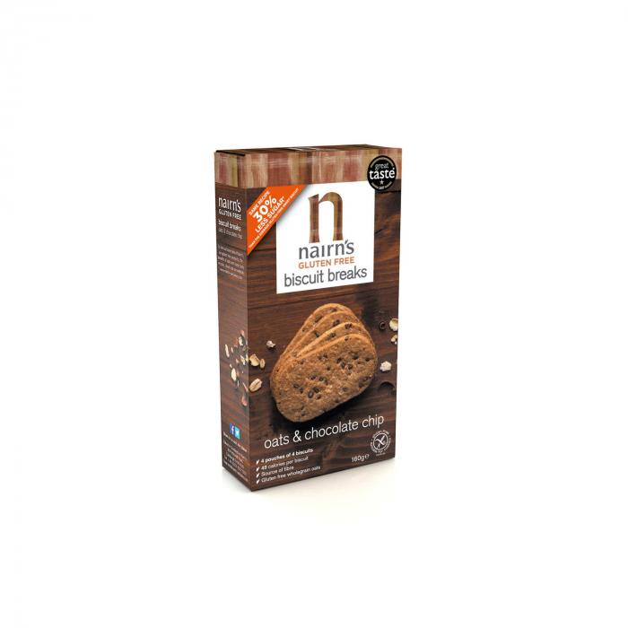 Biscuiti FARA GLUTEN din ovaz integral cu ciocolata 160g [0]