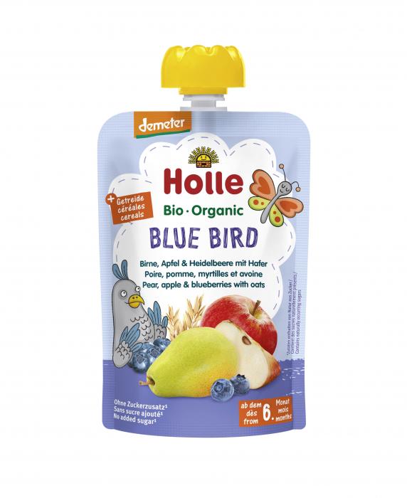 Blue Bird - Piure BIO de pere, mere si afine cu ovaz 100g [0]