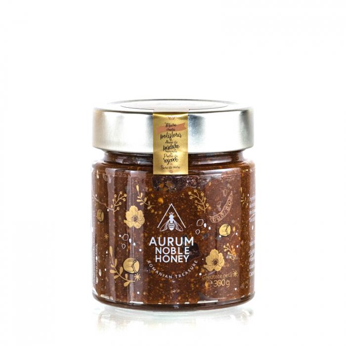 Bohemian Rhapsody Crema de miere cruda poliflora cu alune de padure, pudra de roscove si sare de mare 300g [0]