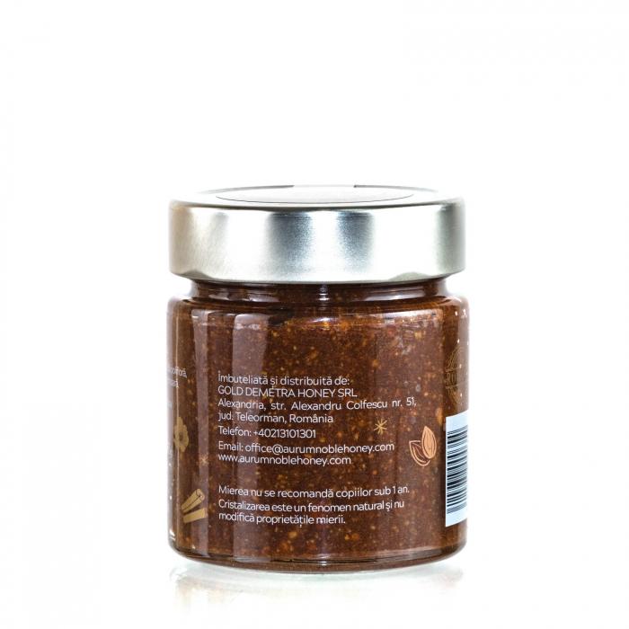 Crema de miere cruda poliflora cu migdale rumenite si scortisoara 300g [1]