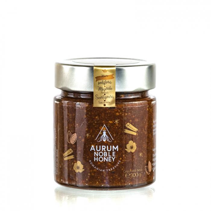 Crema de miere cruda poliflora cu migdale rumenite si scortisoara 300g [0]