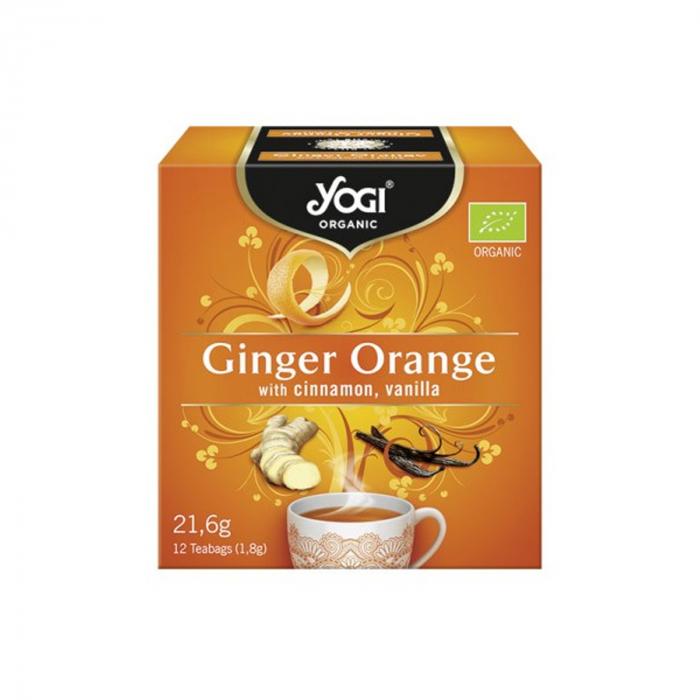 Ceai BIO cu portocale, ghimbir, scortisoara si vanilie, 12 plicuri - 21,6g Yogi Tea [0]