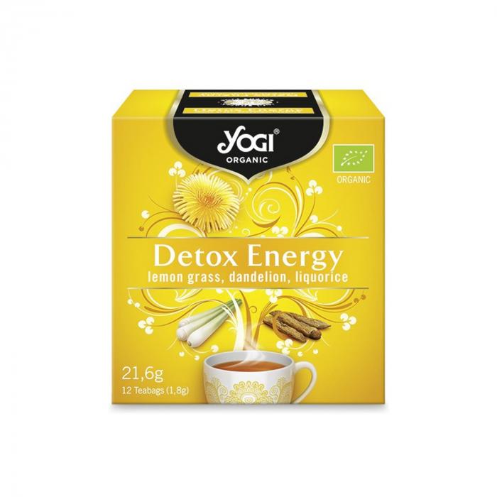 Ceai BIO detoxifiant cu lemongrass, papadie si lemn dulce, 12 plicuri - 21,6g Yogi Tea [0]