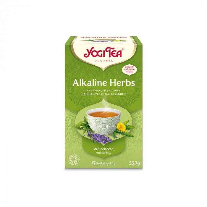 Ceai BIO din plante alcaline, 17 pliculete x 2.1 g, (35.7 g) Yogi Tea [0]