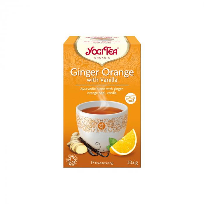 Ceai BIO ghimbir cu portocale si vanilie, 17 pliculete - 30.6g Yogi Tea [0]