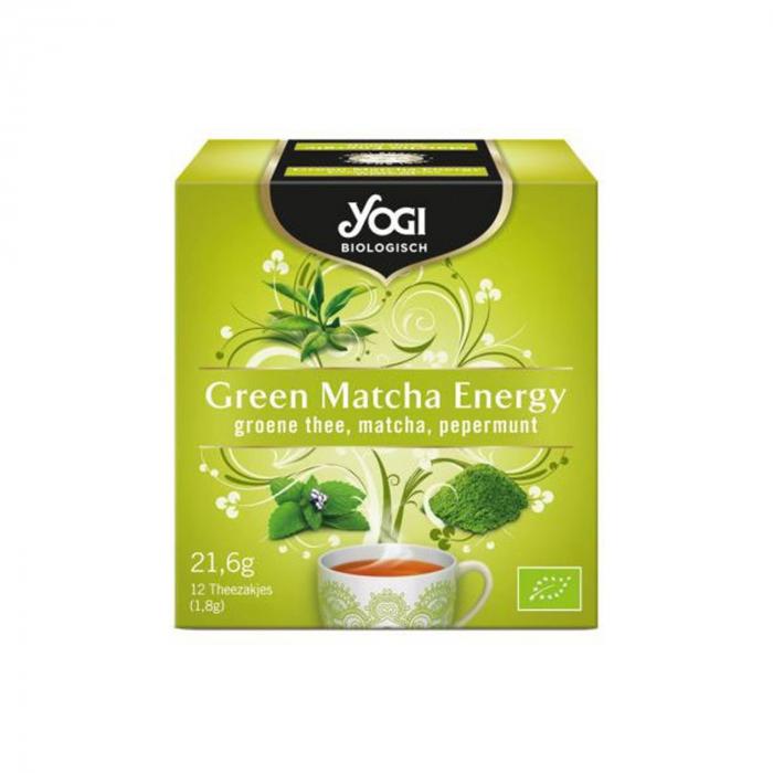 Ceai BIO green matcha energy, 21,6g Yogi Tea [0]