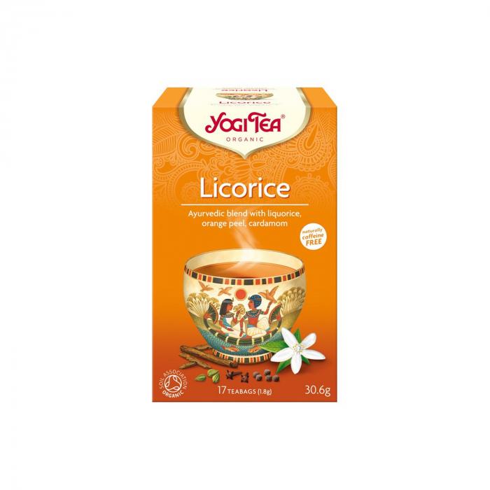 Ceai BIO lemn dulce, 17 pliculete - 30.6g Yogi Tea [0]