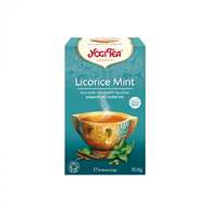 Ceai BIO lemn dulce & menta, 17 pliculete - 30.6 g Yogi Tea [0]
