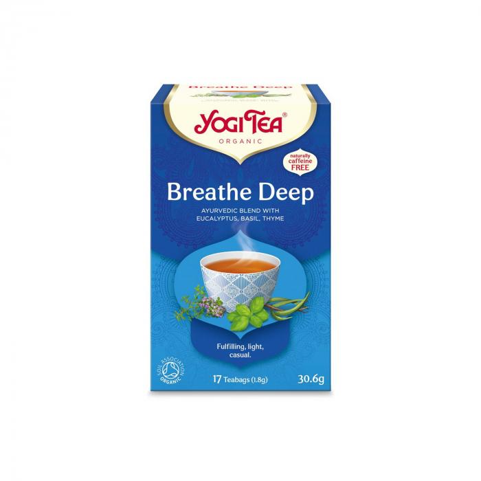 Ceai BIO respiratie profunda, 17 pliculete x 1.8 g, (30.6 g) Yogi Tea [0]