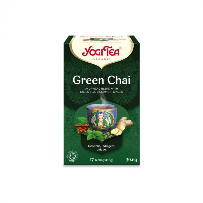 Ceai BIO verde, 17 pliculete x 1,8g (30,6g) Yogi Tea [0]