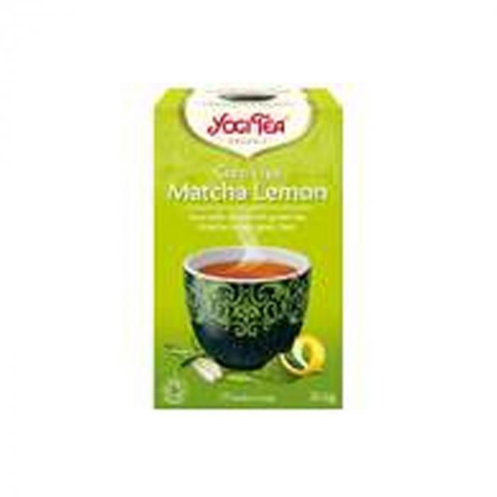 Ceai BIO verde cu matcha si lamaie, 17 pliculete - 30.6g Yogi Tea [0]