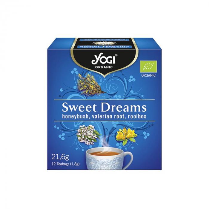Ceai BIO vise placute cu honeybush, radacina de valeriana si rooibos, 12 plicuri - 21,6g Yogi Tea [0]